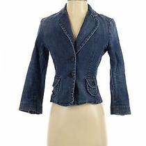 Express Women Blue Denim Jacket Xs Photo