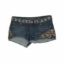 Express Women Blue Denim Shorts 2 Photo