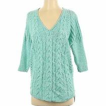 Express Women Blue Pullover Sweater S Photo