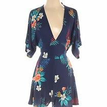 Express Women Blue Romper Xs Photo
