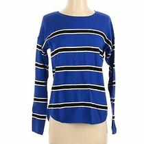 Express Women Blue Sweatshirt S Photo