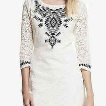 Express Women Emboided Lace Tee Dress Color White  Size M  79.90 Photo