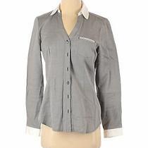 Express Women Gray Long Sleeve Button-Down Shirt S Photo