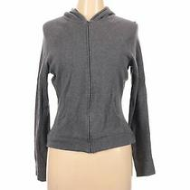 Express Women Gray Zip Up Hoodie L Photo