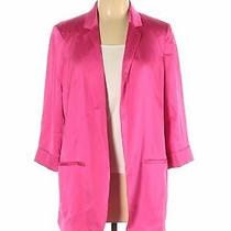 Express Women Pink Blazer L Photo