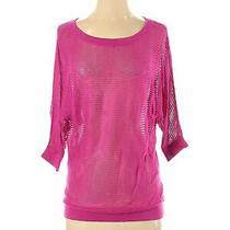Express Women Pink Pullover Sweater S Photo