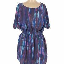 Express Women Purple Casual Dress L Photo