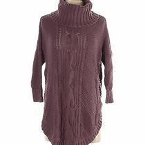 Express Women Purple Turtleneck Sweater S Photo