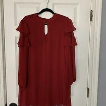 Express Women Red Casual Dress L Photo