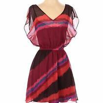 Express Women Red Casual Dress Xs Photo