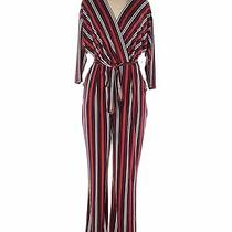 Express Women Red Jumpsuit L Photo