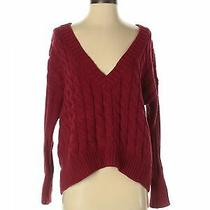 Express Women Red Pullover Sweater S Photo