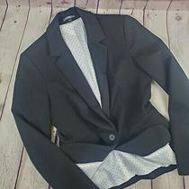Express Women's Black Blazer Lined - Size 2 - 1 Button- Preowned Photo