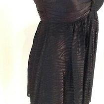 Express Women's Black Dress Size S Lbd Silk Sleeveless Strapless Dress 30