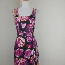 Express Women's Black Floral Short Career Work Dress Size 6 Small Ethankeith1 Photo