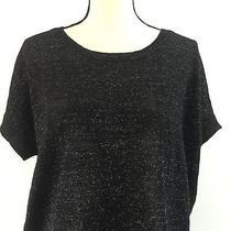 Express Women's Black Sparkle Shirt Size Medium Photo