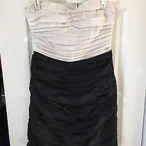 Express Women's Black & White Cocktail Dress Strapless Size 0 Photo
