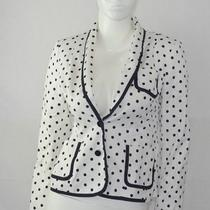 Express Women's Black & White Polka Dot Button Up  Blazer Small Career  Jacket  Photo