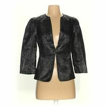 Express Women's Blazer Size 2  Black  Cotton Polyester Metallic Photo