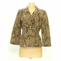 Express Women's Blazer Size 4  Gold  Nylon Polyester Acetate Metallic Photo