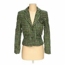 Express Women's  Blazer Size 4  Green  Wear to Work  Acetate Acrylic Nylon Photo