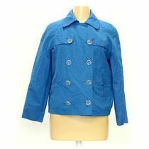 Express Women's Blazer Size M  Light Blue Yellow  Cotton Polyester Photo