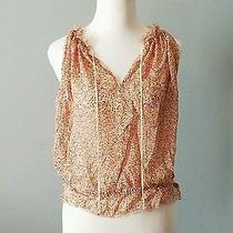 Express Women's Blouse Size Small Beautiful Pink Pattern  Photo