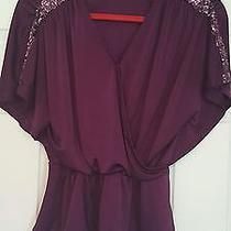 Express Women's Blouse/xs/peplum/purple Photo