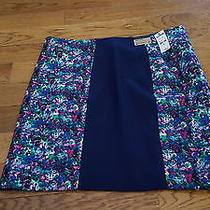 Express Women's Blue Floral Pencil Skirt Size 12 Nwt 70  Photo
