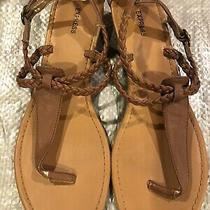 Express Womens Braid Rope Brown Sandals Size 10 Photo