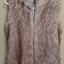 Express Womens Brown Khaki Black Faux Fur Vest Lined Size Small  Photo