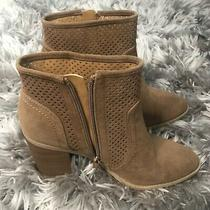 Express Women's Brown Suede Ankle Boots With Zipper Size 8.5 Nwot High Heel Photo