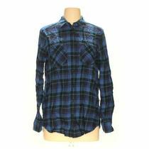 Express Women's Button-Up Shirt Size S  Blue/navy Blue/navy  Cotton Photo