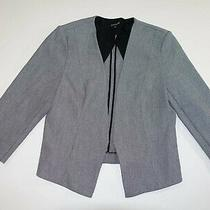 Express Women's Buttonless Blazer Jacket Size 12 Gray Suit Coat Open Front Lined Photo
