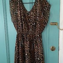 Express Women's Cheetah Print Dress - Size Medium Photo