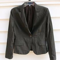 Express Women's Dark Brown Blazer Suit Jacket Full Lined Sz 6 Euc Photo