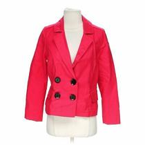 Express Women's  Double Breasted Blazer Size 6  Red  Wear to Work  Cotton Photo