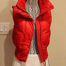 Express Women's Down Puffer Vest Size S Red Color Zipped 78 Worn Once Photo