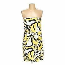 Express Women's  Dress Size 8  Black White Yellow  Girly/flower  Polyester Photo