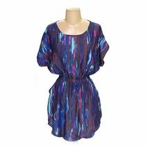 Express Women's Dress Size Xs  Blue/navy Purple  Polyester  Good Condition Photo