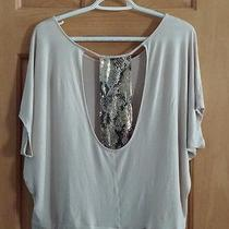 Express Women's Dress Top With Sequine Back Size M Photo