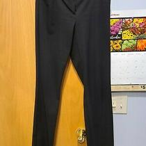 Express Women's Editor Pants Boot Cut Size 8 Black Work Average Business Casual Photo