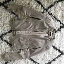 Express Women's Faux Leather Motorcycle Jacket Size Small Tan  Photo