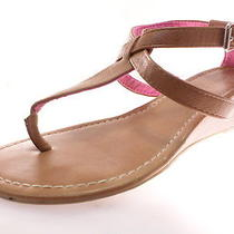 Express Women's Flats  Wedge Sandals Brown Size 8 M Photo