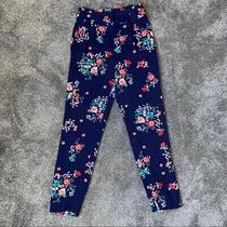 Express Women's Floral Dress Pants Navy Blue Womens Size 00 Photo