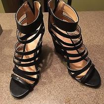 Express Women's Gladiator Sandals High Heels Worn 3-4 Times Lace Up Sz 8 Shoes Photo