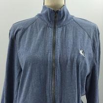 Express Women's Gray Blue Full Zip Sweatshirt Size Large Photo