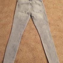 Express Women's Gray Distressed Ankle Legging Jeans Size 4 R Photo