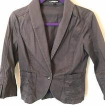 Express Women's Gray Polyester Blend Blazer Jacket Size 12 Photo