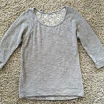 Express Women's Gray Sweatshirt With Lace Back. Size S. So Cute Photo